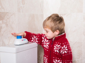 Introducing The Simple Innovation That Makes Flushing The Toilet Easy & Fun For Children