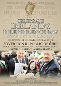 Ireland's Independence Day 21st January & 1916 Centenary celebration