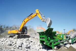 Dancing Diggers at Ireland's Construction and Quarry Machinery Show